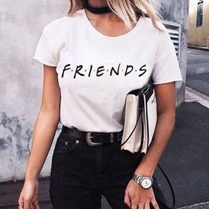 Tops - White Graphic print Friends T-shirt